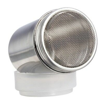 Stainless Steel Chocolate Shaker Icing Flour Cocoa Sugar Cappuccino Sifter P7W4