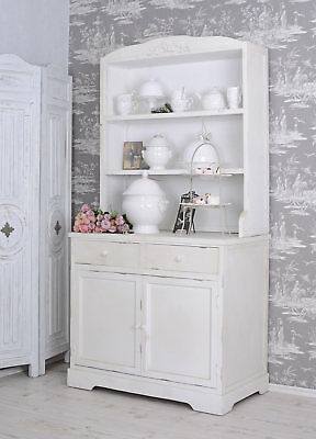 Kitchen cupboard sideboard kitchen cabinet country style white wood buffet new