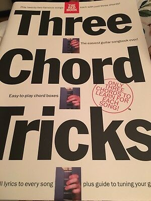 THREE CHORD TRICKS Guitar Chord Songbook The Red Book T Rex Beatles ...