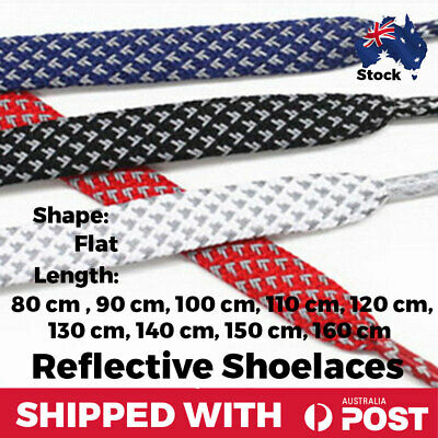 Shoelaces Flat Reflective Sneaker Casual Shoes Cotton For Nike Adidas Converse