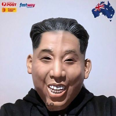 Dictator Mask Latex Full Head Mask Halloween Costume Party Kim Jong Un