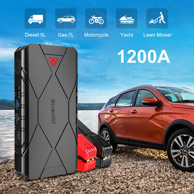 800A Car Jump Starter 20000mAh Battery Booster Emergency Power Bank Charger Tool