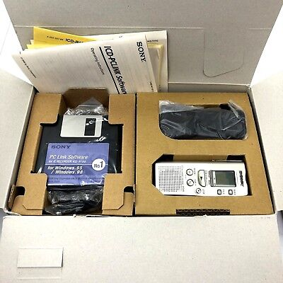 Sony Voice File Portable Digital Voice Recorder + PC LINK SOFTWARE ICD-R100PC