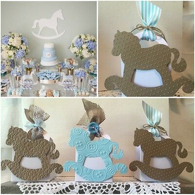 Boys Vintage Teddy Bear Baby Shower Thank You Favor Boxes Baby Blue