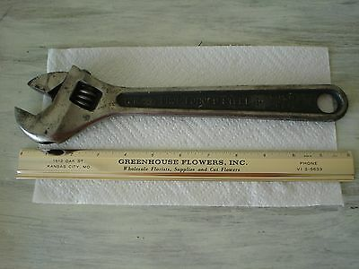 "VINTAGE  CRESCENT Tool Co. 12""Drop Forged Steel Adjustable Wrench Jamestown N.Y."
