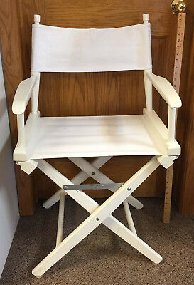 Enjoyable Directors Chair Pier One White Folding Wood Canvas Fabric Squirreltailoven Fun Painted Chair Ideas Images Squirreltailovenorg