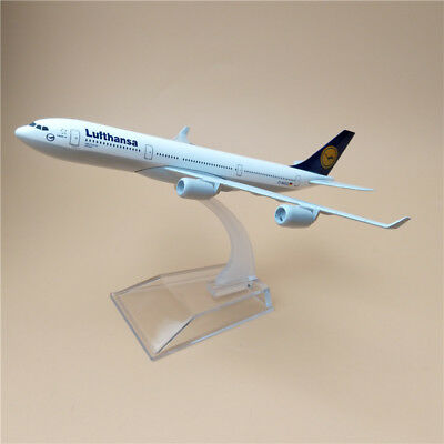 AIRPLANE 16cm METAL PLANE MODEL LUFTHANSA AIRBUS 340 AIRCRAFT A340 FOR KIDS GIFT