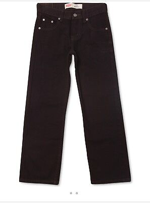 Levi's Big Boy's 550 Relaxed Fit Tapered Leg Jeans Black Size2 Husk $42