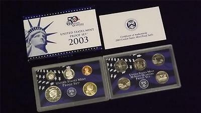 2003 S US Mint Proof 10 Coin Set