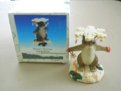 Charming Tails - MAXINE'S SNOWCAP -  signed Dean Griff '00 w/Box by Fitz & Floyd