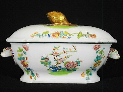 Antique Spode Stone-China 1813 Chinoiserie Pattern 2148 Sauce Tureen 1813-1822