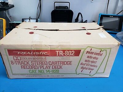 Realistic TR-802 Dolby Eight 8 Track Recorder Tape Deck PROFESSIONALLY SERVICED!