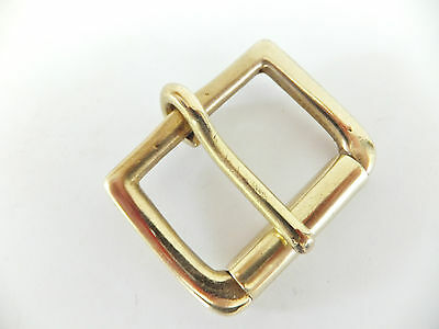 "NICKEL or SOLID Brass Single D Shape Belt Buckle 1.25"" - 1.5"""