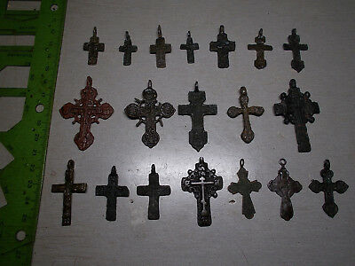 Ancient crosses 15-19 century, 100% original   Metal detector finds