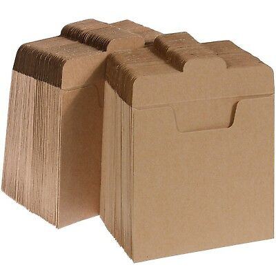 Vastar 100 Packs CD Sleeves Kraft Paper DVD Envelopes, CD Paper Cardboard, Kraft
