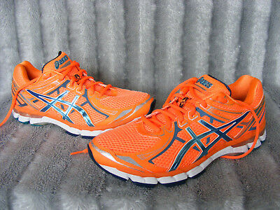 Men's Orange ASICS GEL GT 2000 2 T34TQ Scarpe Da Corsa Tg UK 8.5 1/2 EU 43.5