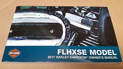 2017 Harley NEW FLHXSE CVO STREET GLIDE Owner's Manual 99577-17