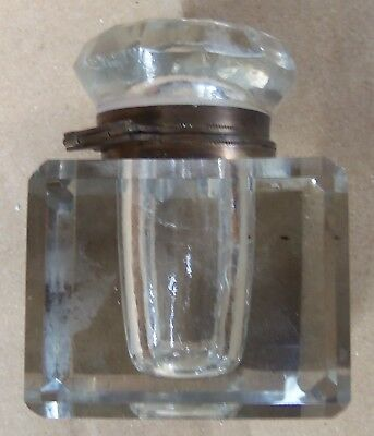 Antique Victorian Cut Glass Inkwell