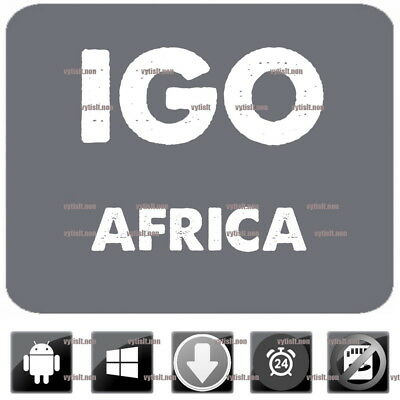 iGo Navigation 2017 Africa Maps App Compatible to WinCE and Android GPS 9 Primo
