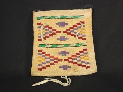 A Finely woven Nez Perce corn husk bag, Native American Indian basket, c1925