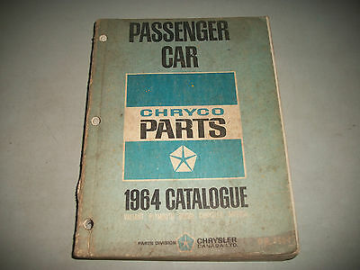 Original Master Parts Catalog 1964 Dodge Chrysler Plymouth Chassis Body Interior