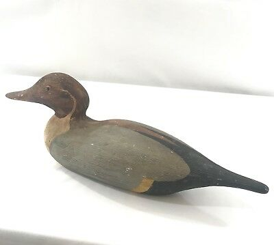 "VINTAGE CERAMIC PINTAIL 16"" duck decoy  hollow Cabin Hunting Decor"