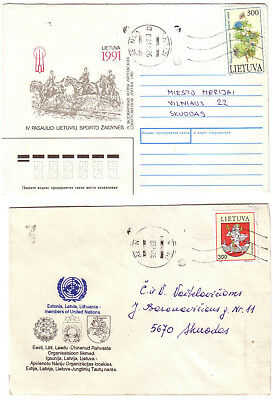 Lithuania - 3 covers #3 (see scans) (Mixed condition)