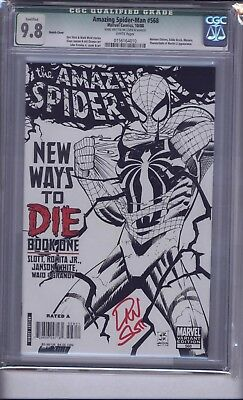 Amazing Spider-Man 568 Cgc 9.8  Sketch Cover Signed By Dan Slott   Reduced!!