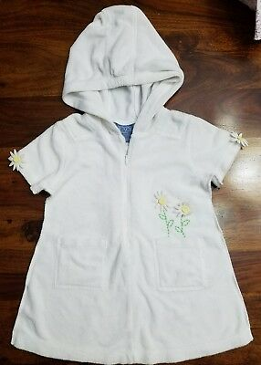 Baby Toddler Girls 18 Months White Terry Cloth Beach Swimsuit Cover Up
