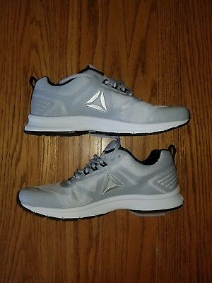 New Mens Reebok Ahary Runner Cloud Gray White Shoes Athletic Size 8