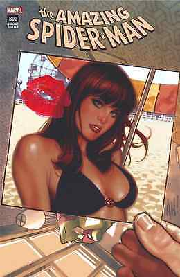 Amazing Spiderman 800 Adam Hughes A Color Texted Variant Nm