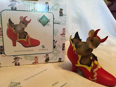 """Charming Tails """"YOU'RE THE FIRE IN MY SOLE"""" SIGNED BY DEAN GRIFF NIB HALLOWEEN"""