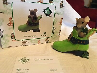 """Charming Tails """"YOU'RE ONE LUCKY SOLE""""  DEAN GRIFF NIB ST PATRICKS"""