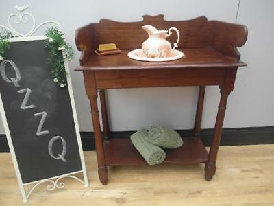 Vintage ANTIQUE Timber WASHSTAND with JUG & Bowl Wash STAND QZZQ Adelaide