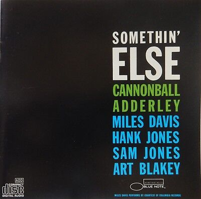 Cannonball Adderley - Somethin' Else (CD 1987, Blue Note) VG++ 9/10