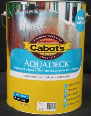 CABOTS 10 LITRE AQUADECK  WATER-BASE FOR DECKING NATURAL colour
