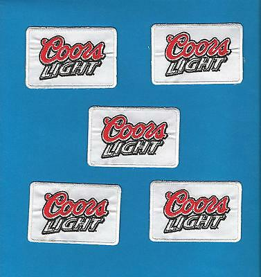 5 Lot Vintage Coors Light Beer Iron On Hat Jacket Hoodie Trucker Hat Patches