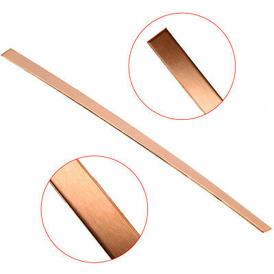 1pc 99% Purity Copper Strip T2 Cu Metal Bar Plate 2mm x 10mm x 250mm  DIY CNC