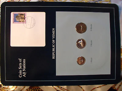 Coin Sets of All Nations Yemen UNC RARE 1,5 Riyal 1993 10 Riyal 1995