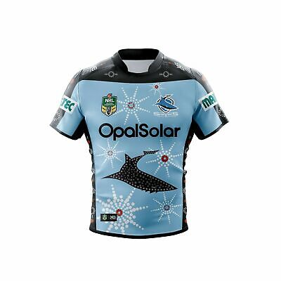 Cronulla Sharks NRL 2018 X Blades Indigenous Jersey Sizes S-5XL! IN STOCK!