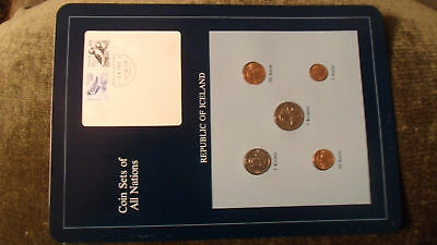 Coin Sets of All Nations Iceland w/card all 1981 UNC 100 + 170