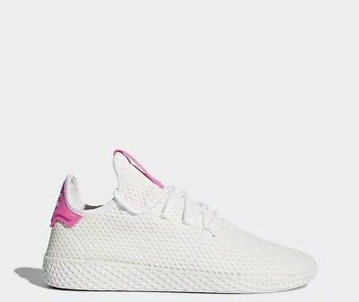 3cebc8b0fdc76 ADIDAS Originals Pharrell Williams PW Tennis HU Men s Size 10 White Pink  BY8714