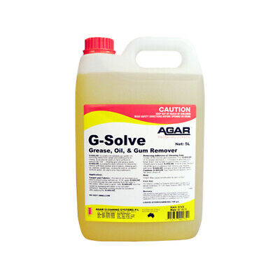 Agar G-SOLVE 5L -  Grease, Oil & Gum Remover, Pre-spotter for stains on carpet