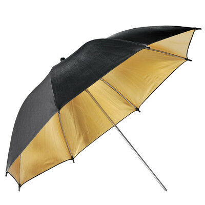 "Neewer 33"" Black & Gold Reflective Lighting Umbrella for Photography Studio"