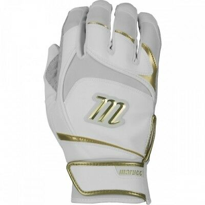 Marucci Pittards Signature Series Batting Gloves MBGSGNP - White/Gold - L