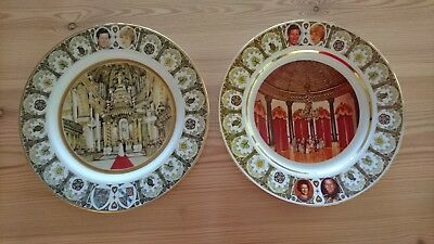 2 x HERITAGE COLLECTION PRINCE CHARLES & LADY DIANA SPENCER COMMEMORATIVE PLATES