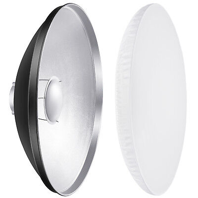 Neewer Photography 21.6 inch Aluminum Reflector Beauty Dish with White Diffuser