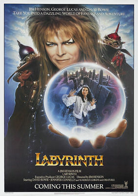 Labyrinth Classic Vintage Movie Poster A5..a4 And A3 Options