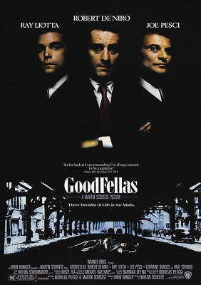 The Goodfellas Classic Vintage Movie Poster A5..A4 And A3 Options