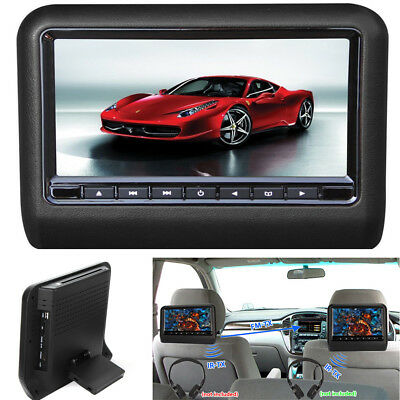 "9"" Digital Screen Car Headrest USB SD HD Monitor DVD Player with Remote Control"